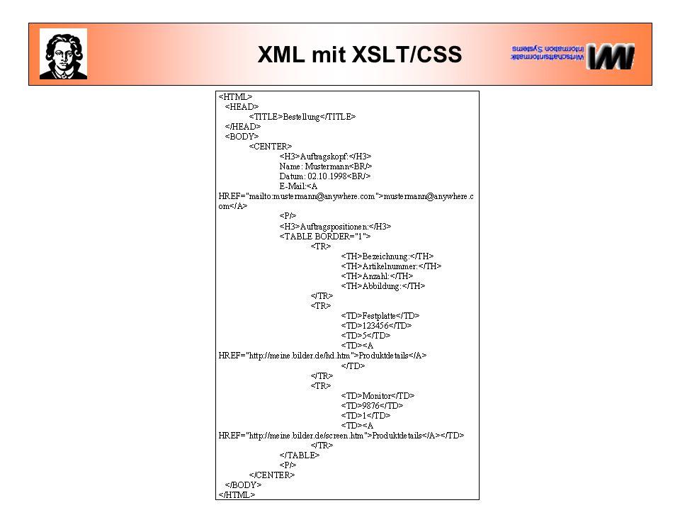 XML mit XSLT/CSS