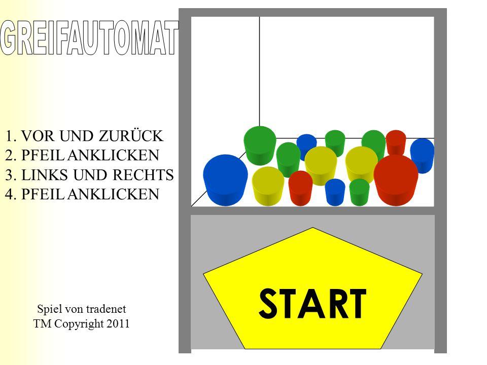 1.VOR UND ZURÜCK 2. PFEIL ANKLICKEN 3. LINKS UND RECHTS 4.