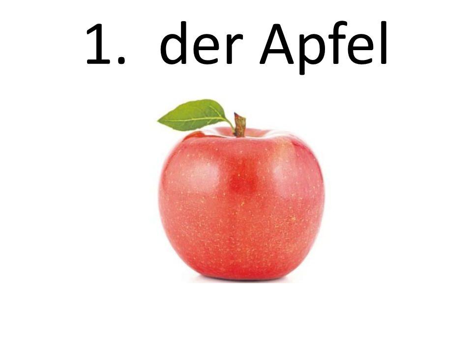 1. der Apfel