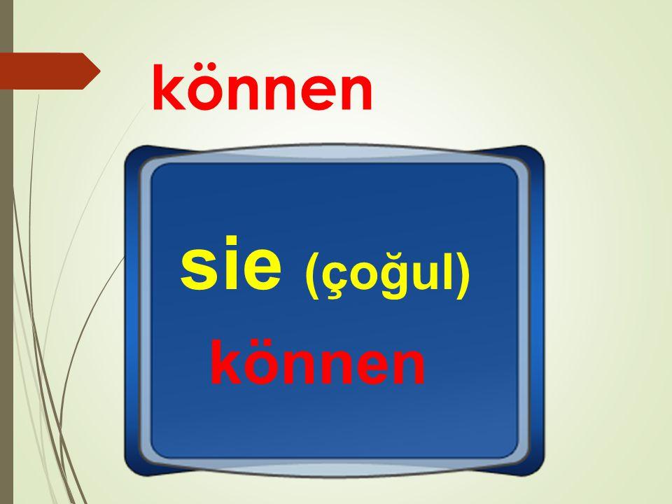können sie (çoğul) können