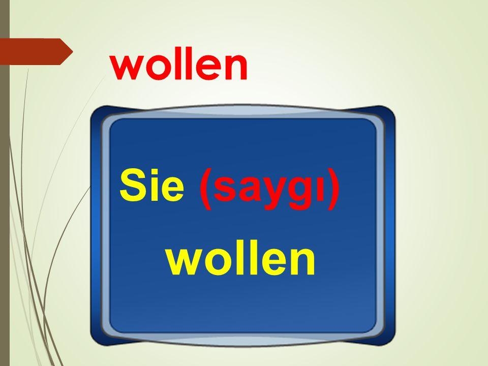 wollen Sie (saygı) wollen