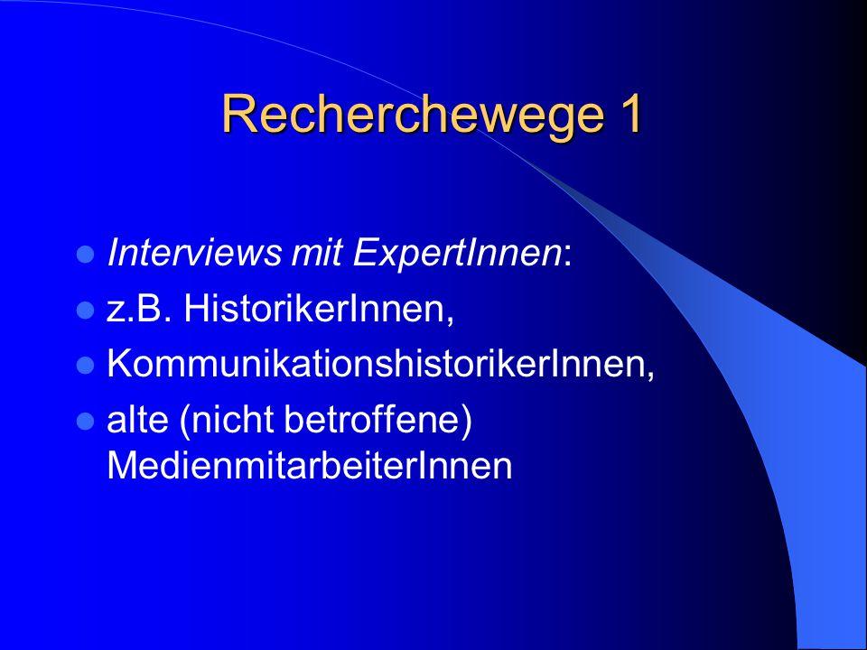 Recherchewege 12 Publikationen der Person bzw.
