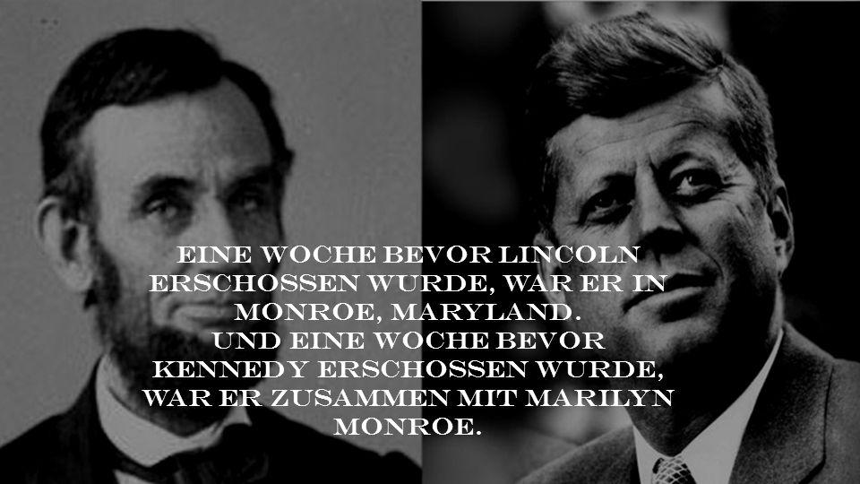 Eine Woche bevor Lincoln erschossen wurde, war er in Monroe, Maryland.