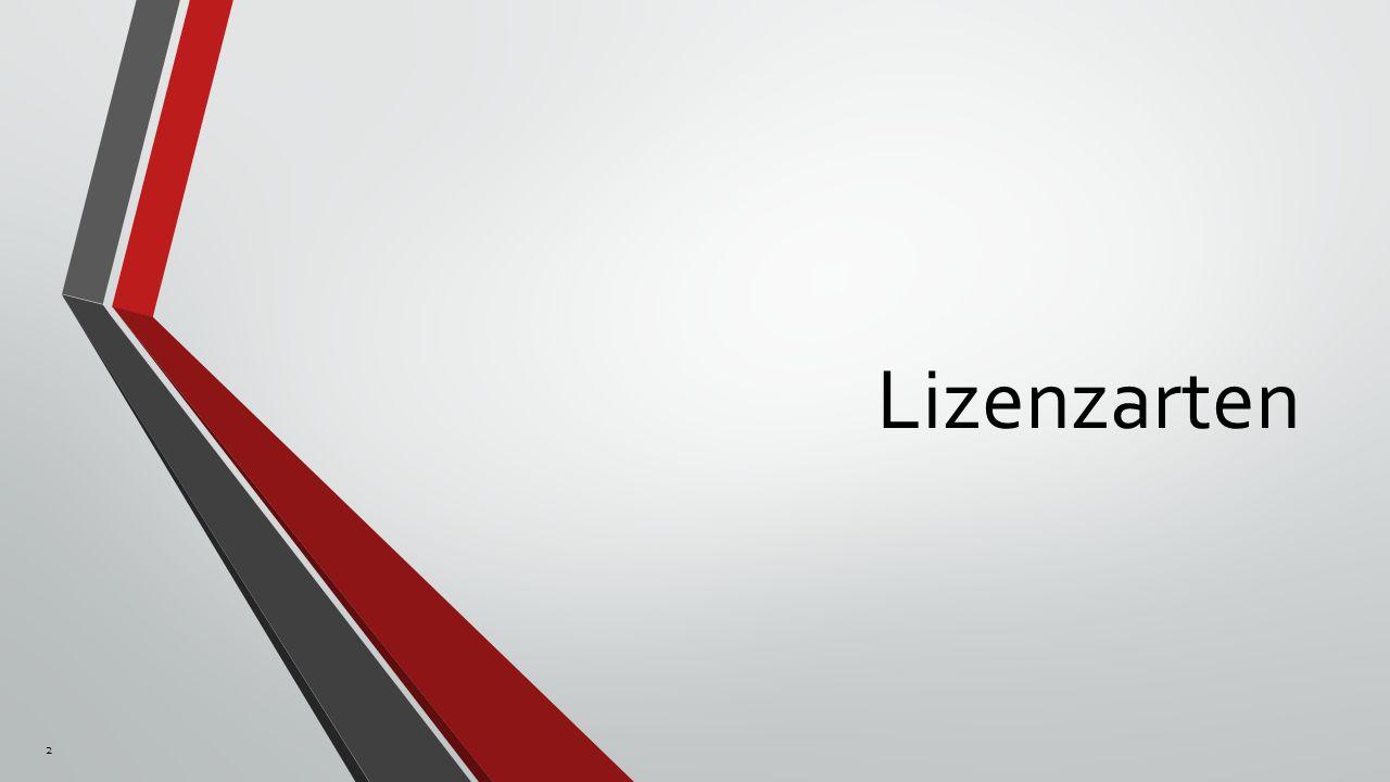 Lizenzarten 2