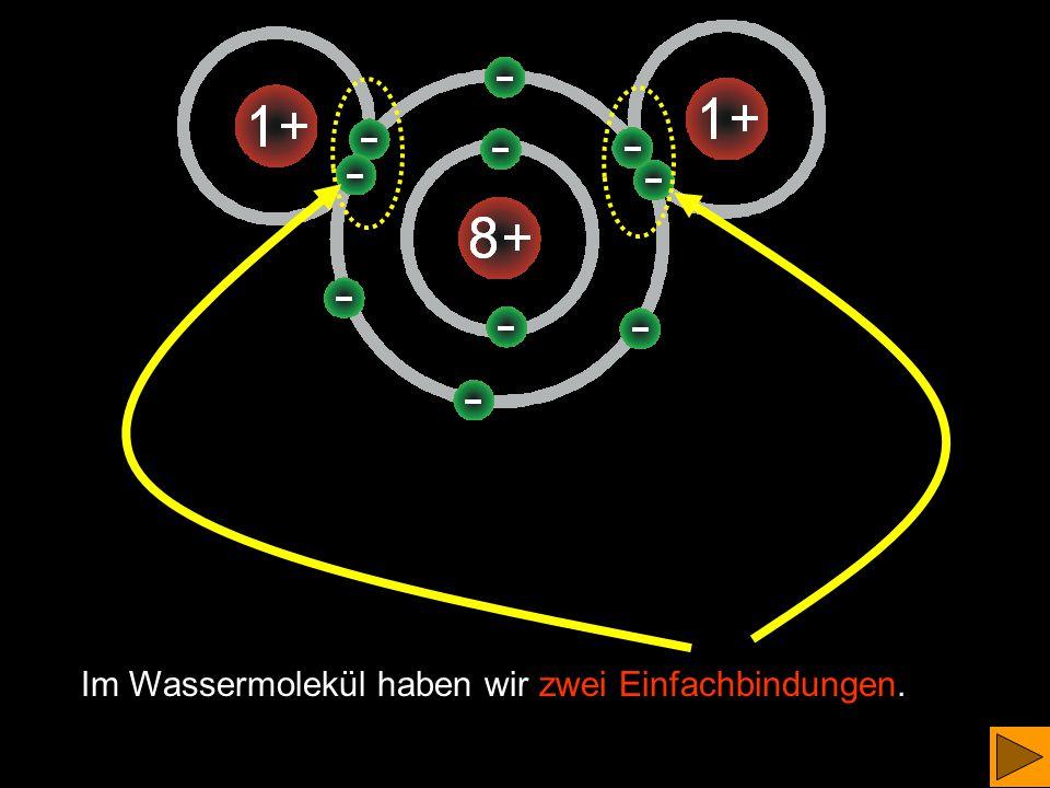 Es haben sich Wassermoleküle gebildet Bei dieser Reaktion wird sehr viel Energie frei. ('Explosion')