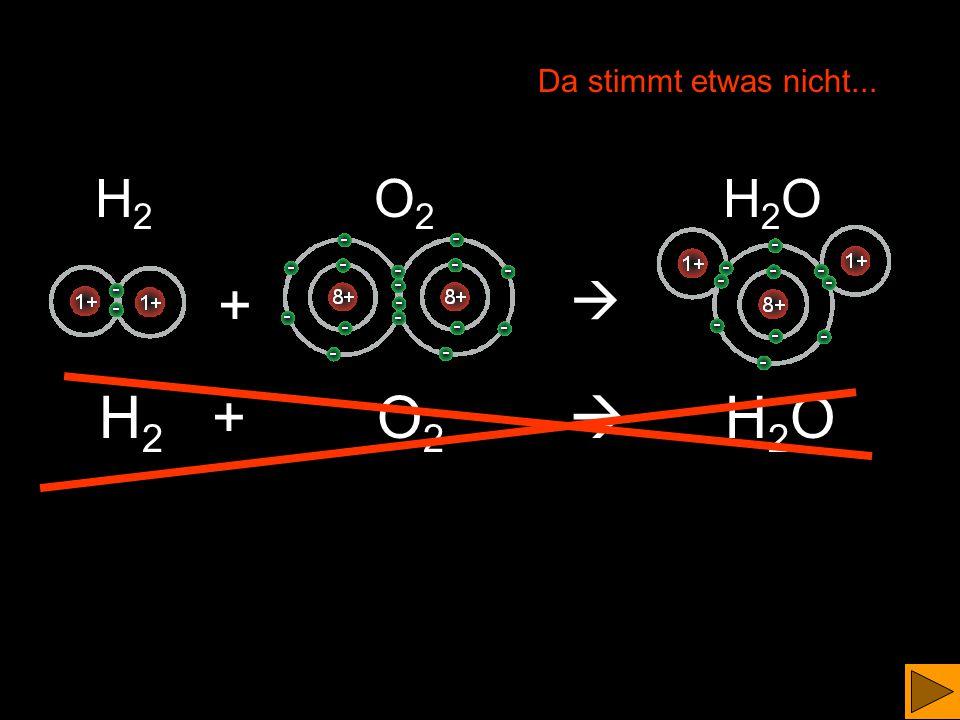 Im Wassermolekül haben wir zwei Einfachbindungen.