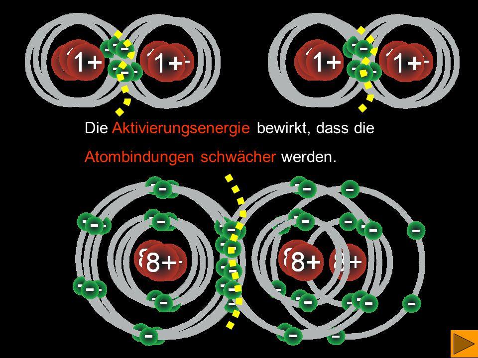 Im Gefäß befinden sich Wasserstoff- und Sauerstoffmoleküle im Verhältnis 2 : 1 x Wasserstoff- moleküle x Sauerstoff- moleküle
