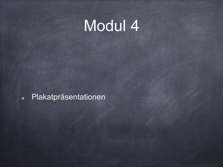 Modul 4 Plakatpräsentationen
