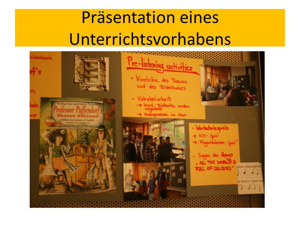 Präsentation eines Unterrichtsvorhabens