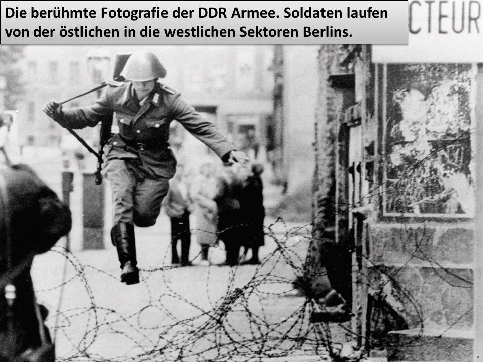 Die berühmte Fotografie der DDR Armee.