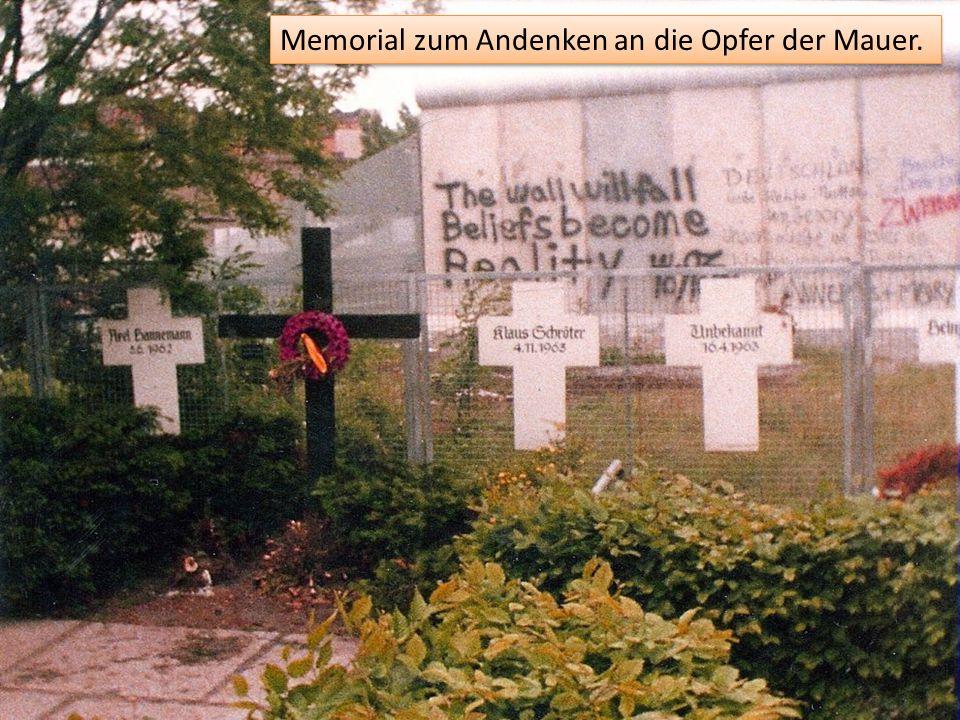 Memorial zum Andenken an die Opfer der Mauer.