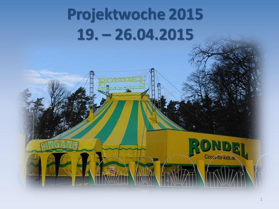Projektwoche 2015 19. – 26.04.2015 1