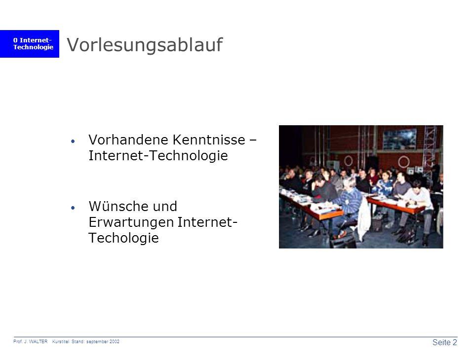 0 Internet- Technologie Seite 2 Prof. J.
