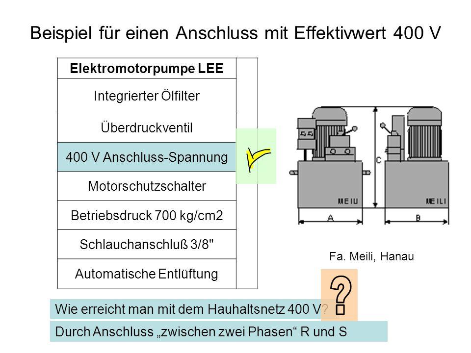 Elektromotorpumpe LEE Integrierter Ölfilter Überdruckventil 400 V Anschluss-Spannung Motorschutzschalter Betriebsdruck 700 kg/cm2 Schlauchanschluß 3/8