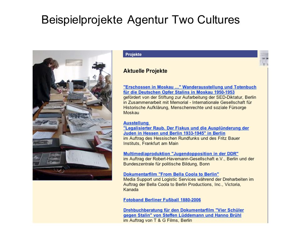 Beispielprojekte Agentur Two Cultures