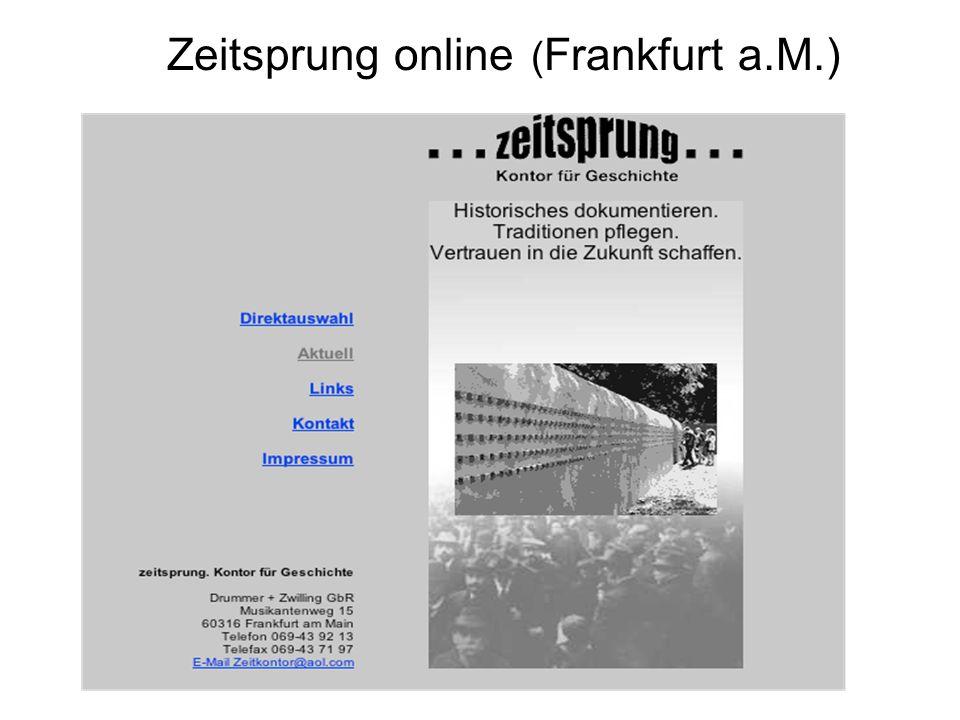 Zeitsprung online ( Frankfurt a.M.)