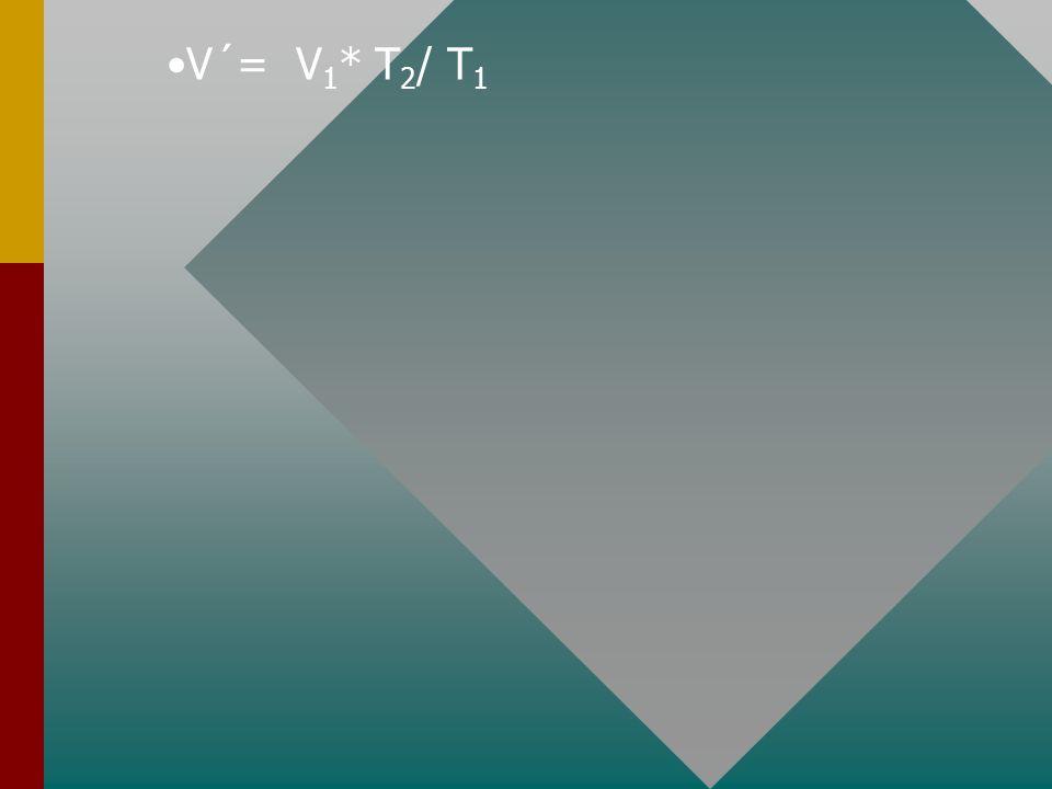 V´= V 1 * T 2 / T 1