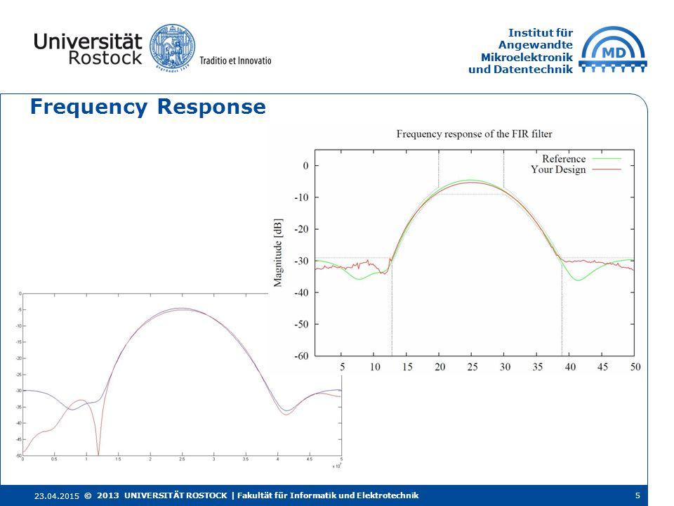 Institut für Angewandte Mikroelektronik und Datentechnik Institut für Angewandte Mikroelektronik und Datentechnik Frequency Response 23.04.2015 5© 201
