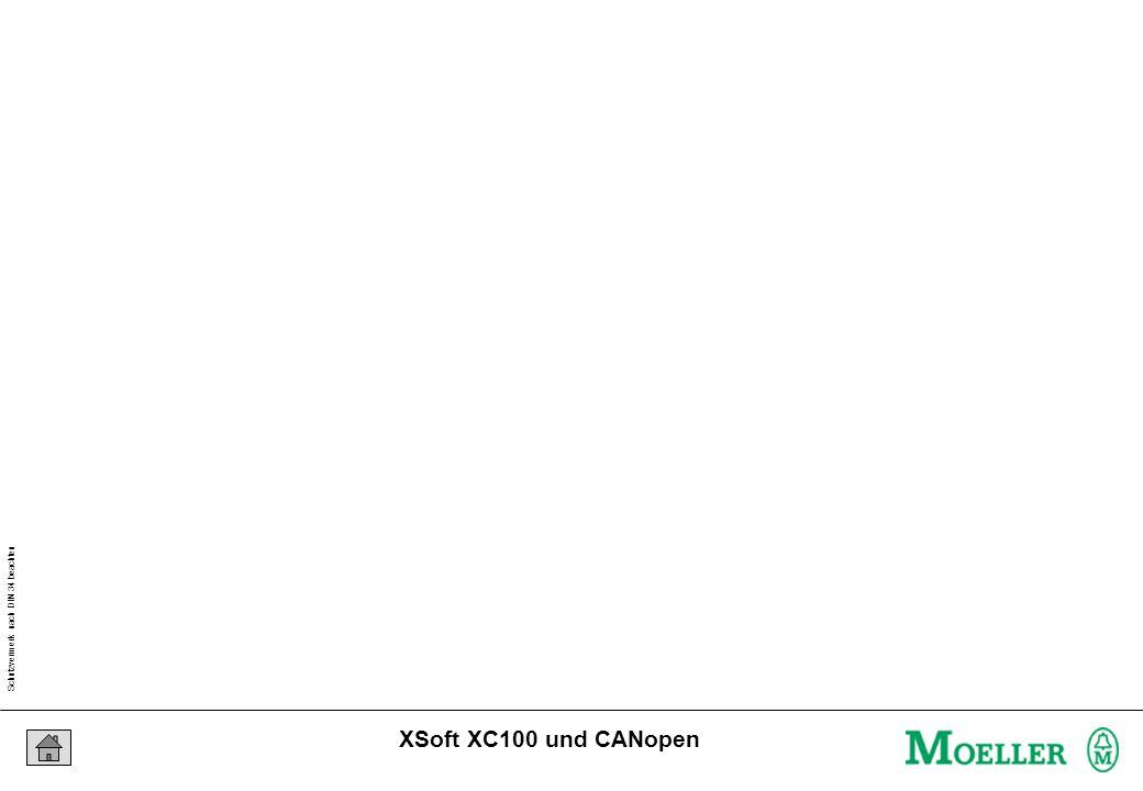 Schutzvermerk nach DIN 34 beachten 23/04/15 Seite 18 XSoft XC100 und CANopen