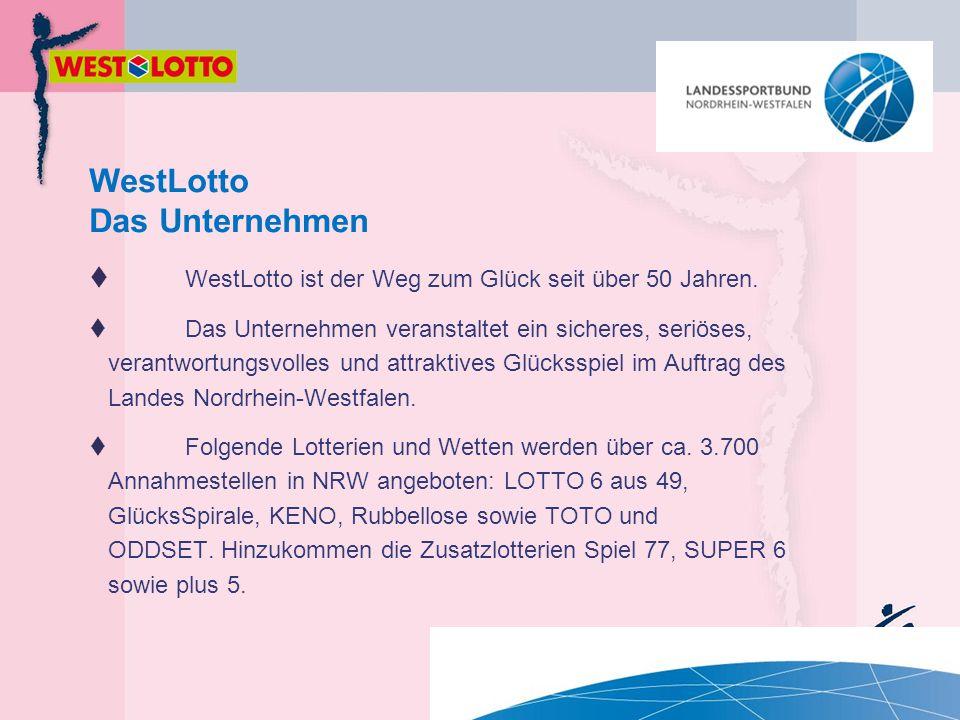  WestLotto ist der Weg zum Glück seit über 50 Jahren.  Das Unternehmen veranstaltet ein sicheres, seriöses, verantwortungsvolles und attraktives Glü