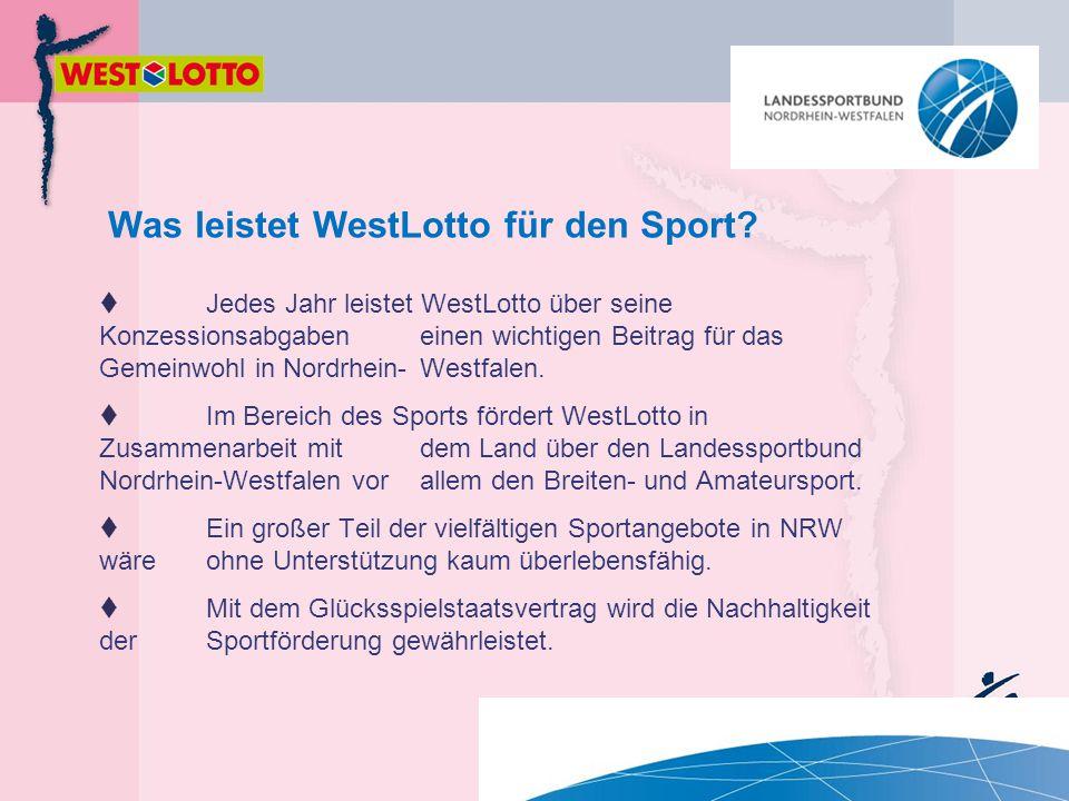 Was leistet WestLotto für den Sport?  Jedes Jahr leistet WestLotto über seine Konzessionsabgaben einen wichtigen Beitrag für das Gemeinwohl in Nordrh