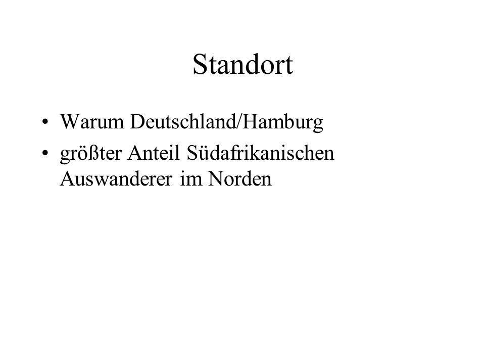 Standort Warum Deutschland/Hamburg größter Anteil Südafrikanischen Auswanderer im Norden