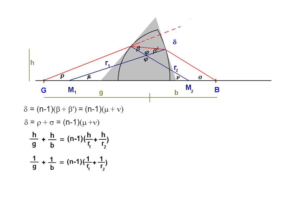 = (n-1) (  +  ') = (n-1) (  + )