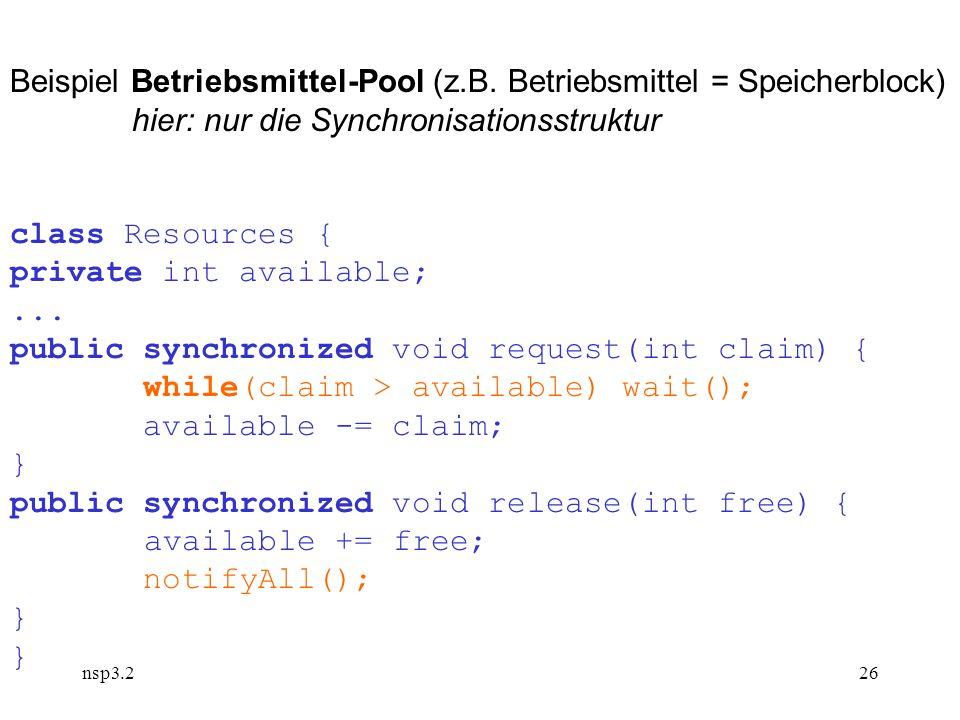 nsp3.226 Beispiel Betriebsmittel-Pool (z.B.