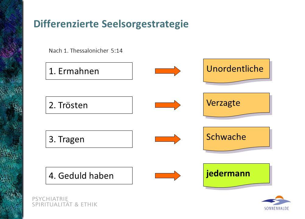 Differenzierte Seelsorgestrategie Nach 1.Thessalonicher 5:14 1.