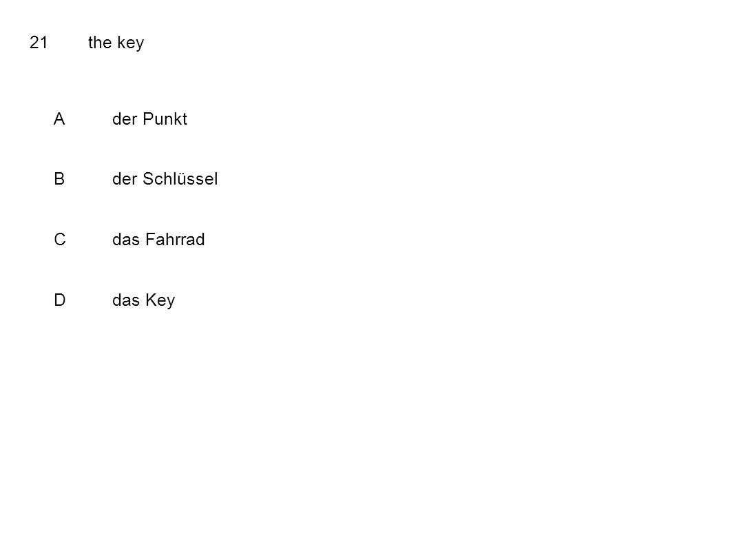 21the key Ader Punkt Bder Schlüssel Cdas Fahrrad Ddas Key