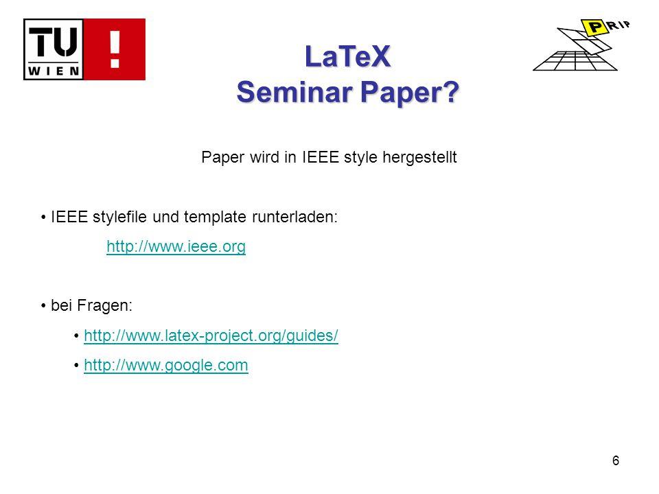 6 LaTeX Seminar Paper.