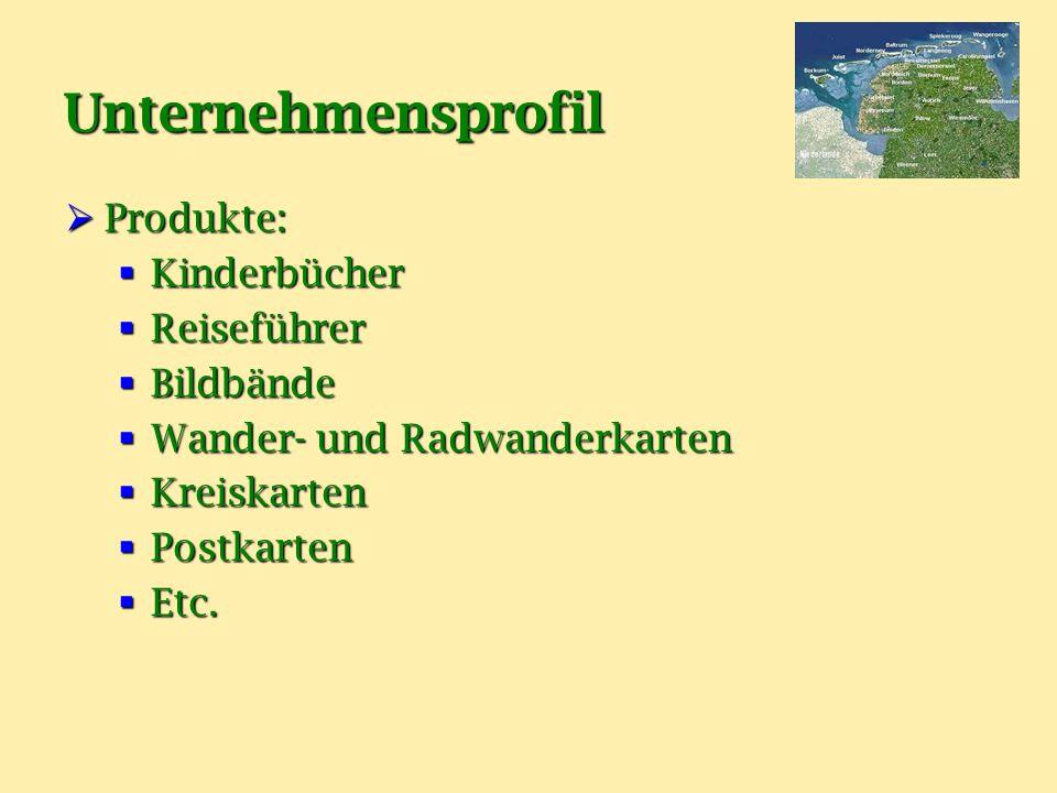 Unternehmensprofil PPPProdukte: KKKKinderbücher RRRReiseführer BBBBildbände WWWWander- und Radwanderkarten KKKKreiskarten PPPPostkarten EEEEtc.