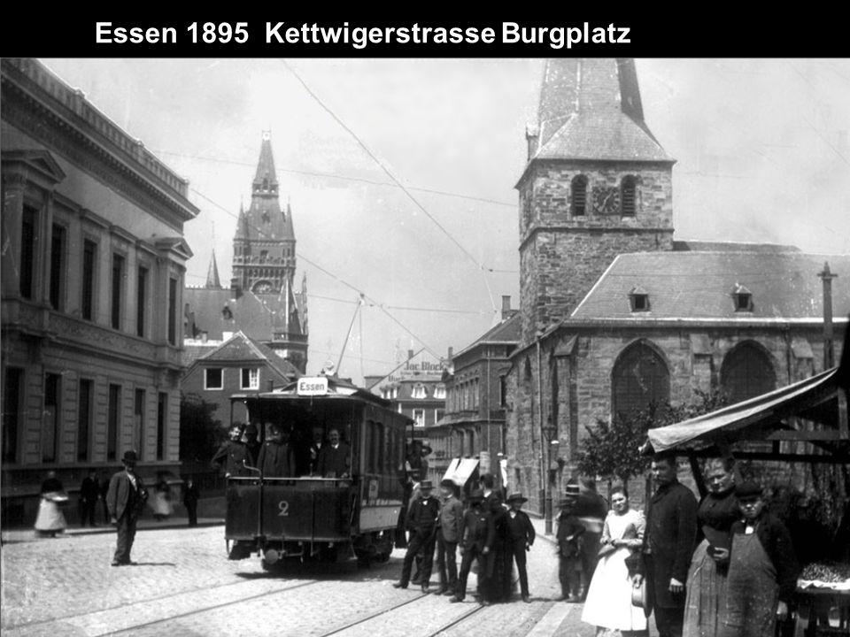 Essen um 1900 Rottstrasse aus Richtung Kopstadtplatz