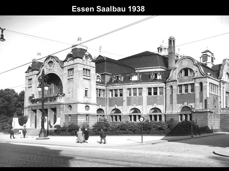 Rückseite des alten Rathauses 1946 I. Hagen später Kennedyplatz
