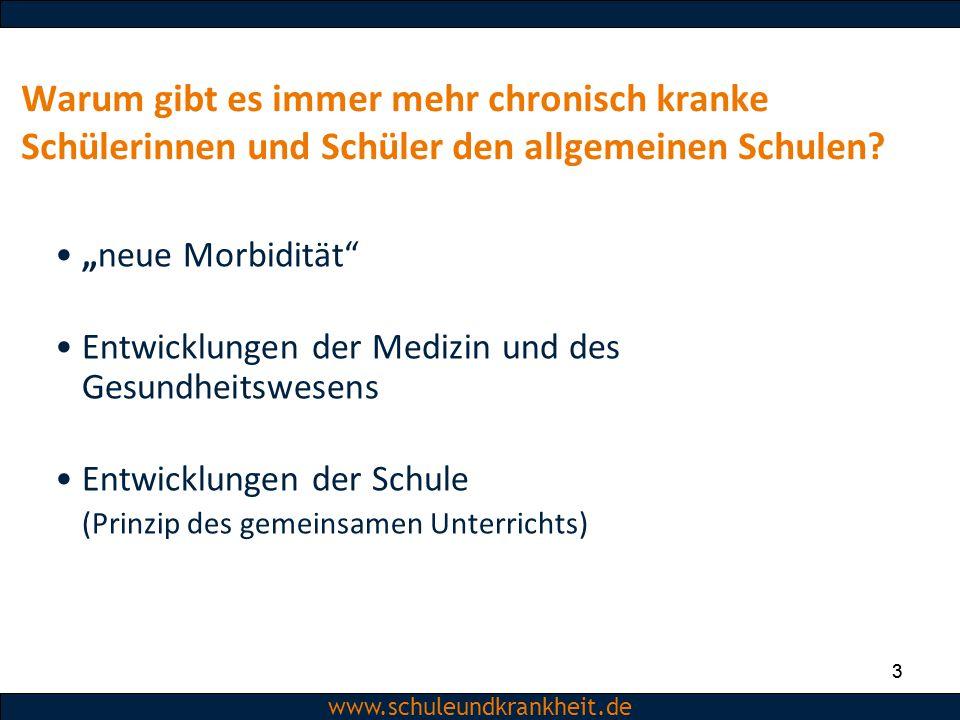 Dipl.-Psych. Christiane Beerbom www.schuleundkrankheit.de 3 Warum gibt es immer mehr chronisch kranke Schülerinnen und Schüler den allgemeinen Schulen
