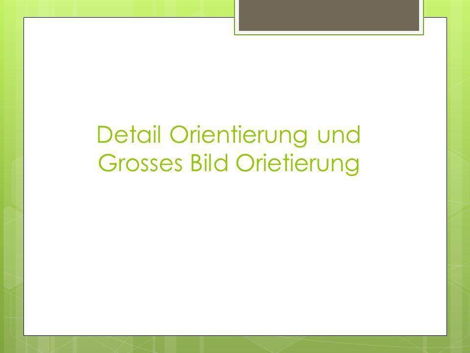 Detail Orientierung und Grosses Bild Orietierung