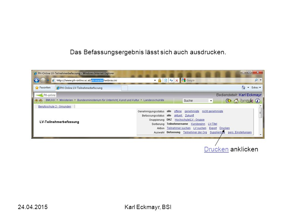 24.04.2015Karl Eckmayr, BSI