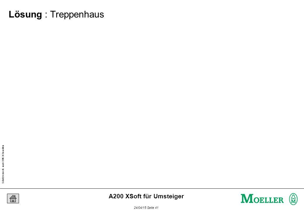 Schutzvermerk nach DIN 34 beachten 24/04/15 Seite 41 A200 XSoft für Umsteiger Lösung : Treppenhaus
