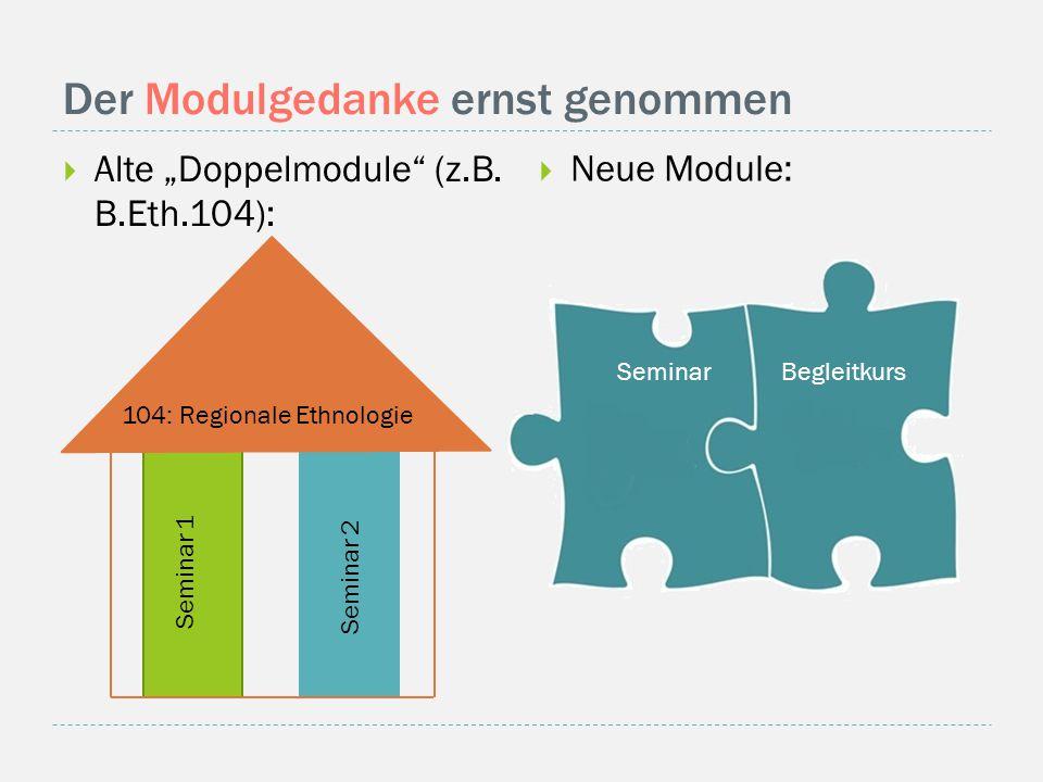 """Der Modulgedanke ernst genommen  Alte """"Doppelmodule (z.B."""