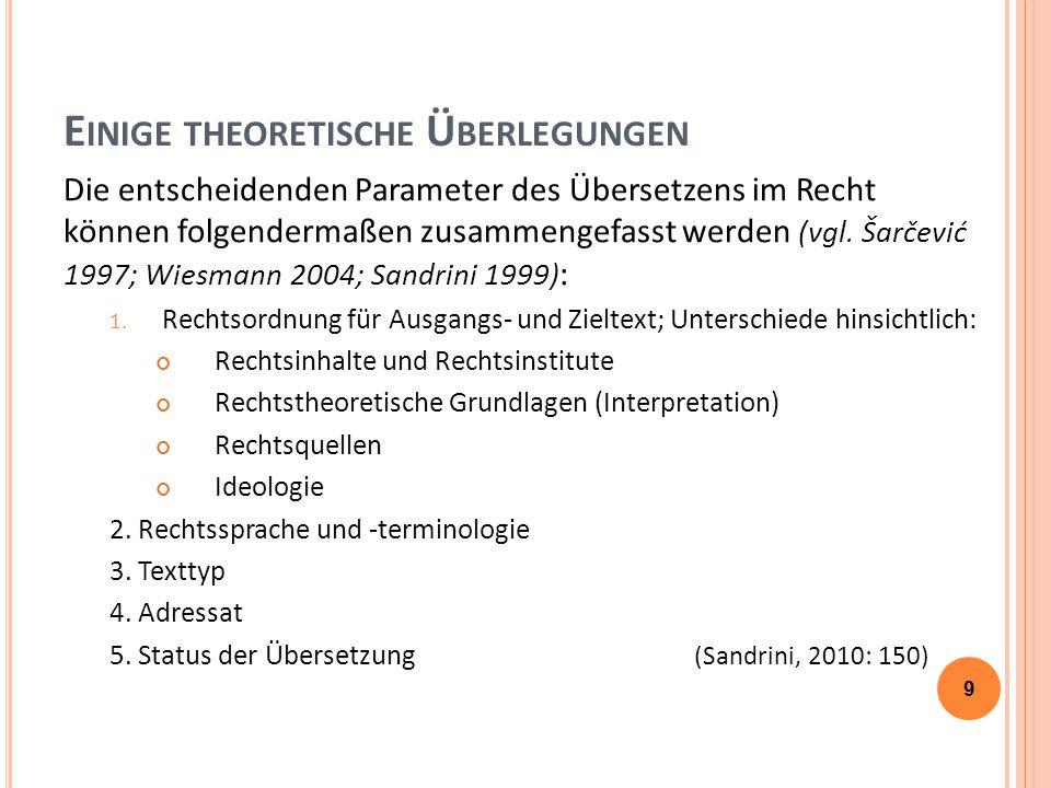 E INIGE THEORETISCHE Ü BERLEGUNGEN Übersetzungsstrategie nach C.