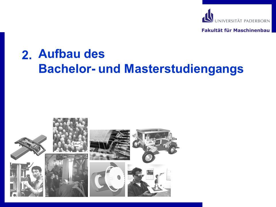 Aufbau des Bachelor- und Masterstudiengangs 2.