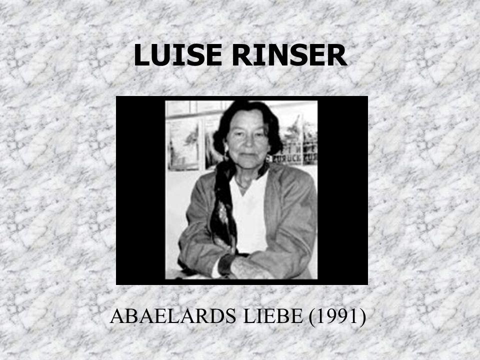 LUISE RINSER ABAELARDS LIEBE (1991)