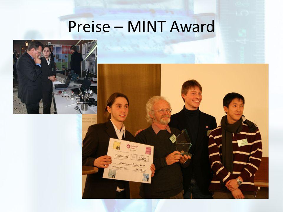 Preise – MINT Award