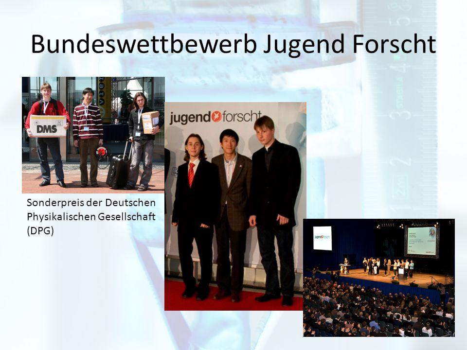 Bundeswettbewerb Jugend Forscht Sonderpreis der Deutschen Physikalischen Gesellschaft (DPG)
