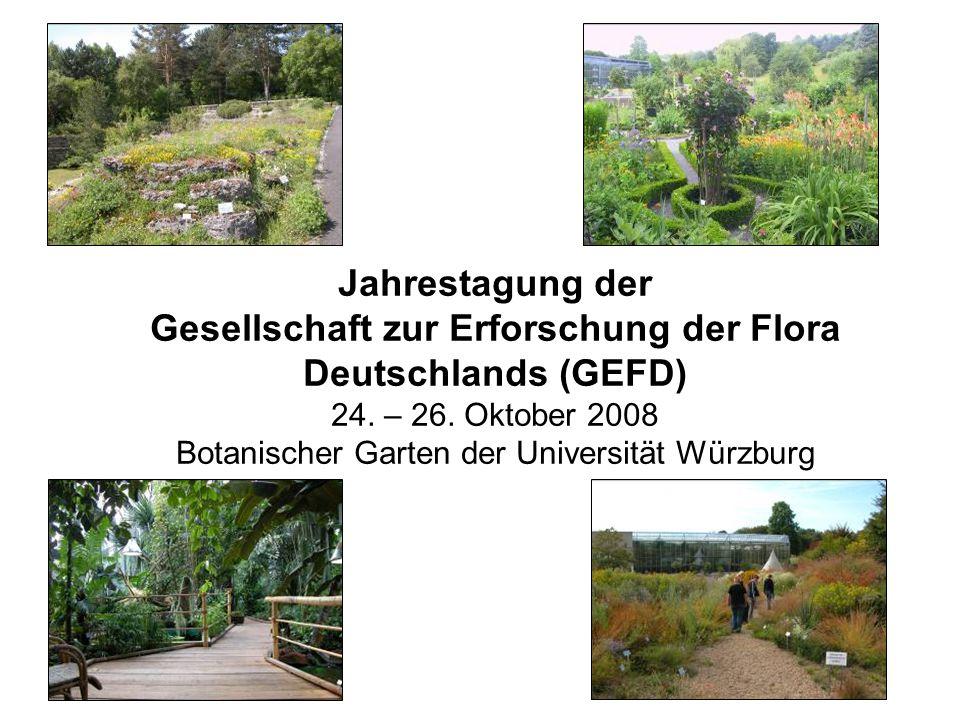 Tagungsorganisation: Gerd Vogg (Kustos des Botanischen Gartens Würzburgs) und Lenz Meierott (GEFD).