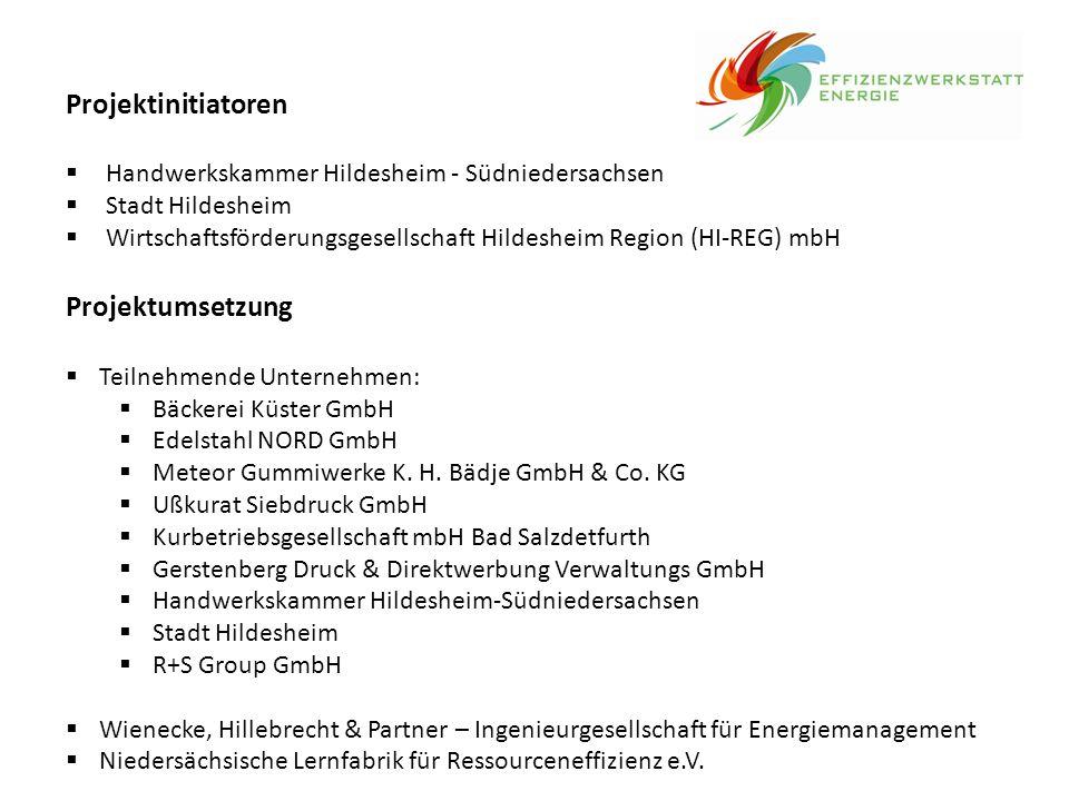 Projektinitiatoren  Handwerkskammer Hildesheim - Südniedersachsen  Stadt Hildesheim  Wirtschaftsförderungsgesellschaft Hildesheim Region (HI-REG) m