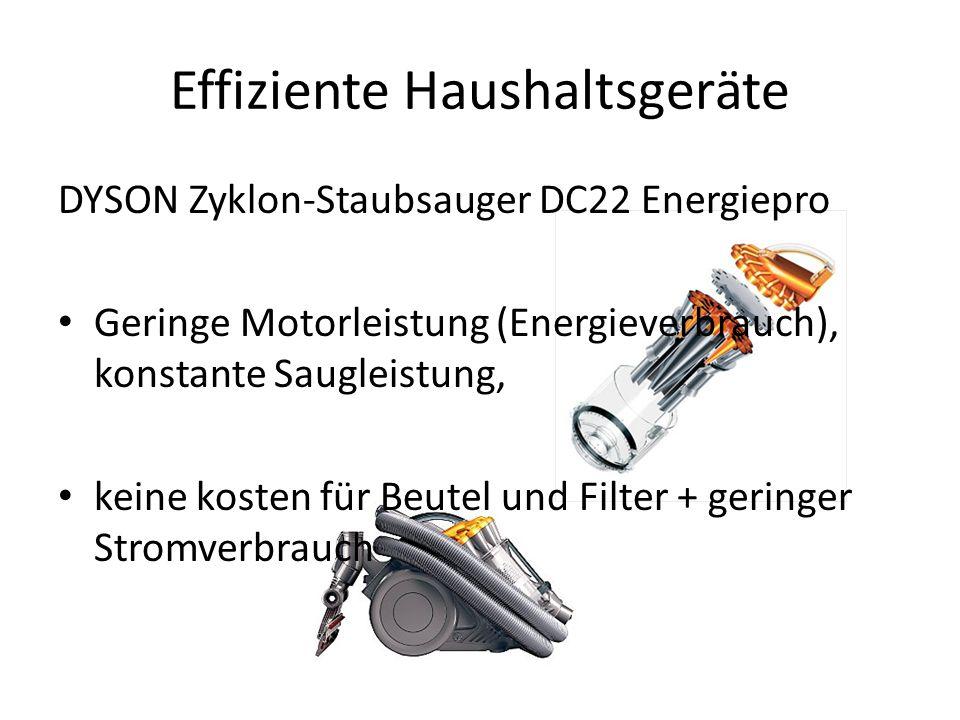 Effiziente Haushaltsgeräte DYSON Zyklon-Staubsauger DC22 Energiepro Geringe Motorleistung (Energieverbrauch), konstante Saugleistung, keine kosten für