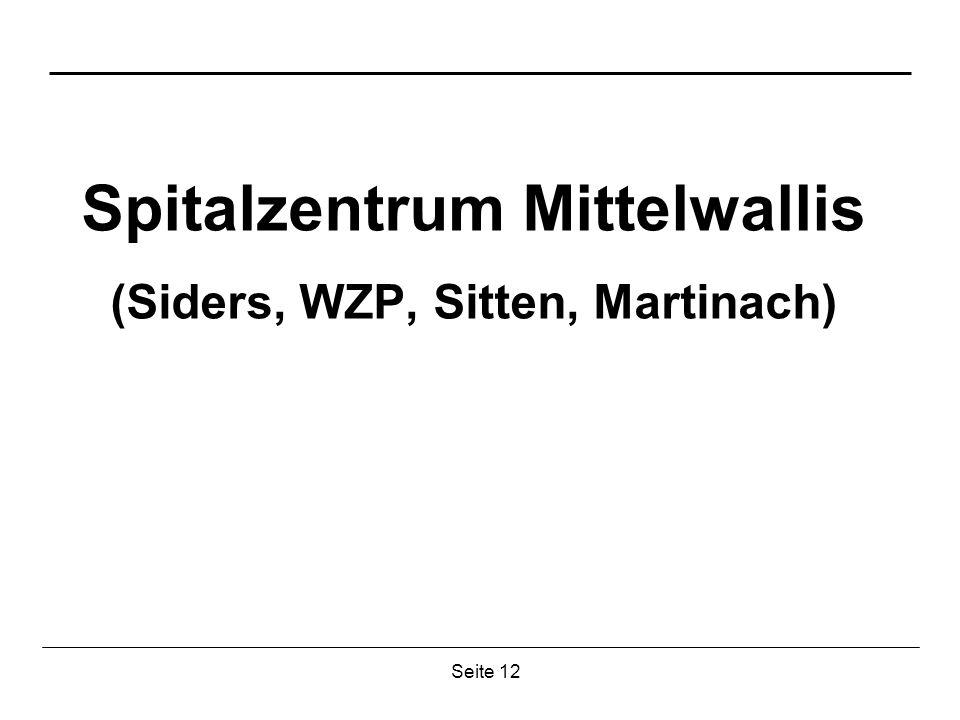Seite 12 Spitalzentrum Mittelwallis (Siders, WZP, Sitten, Martinach)