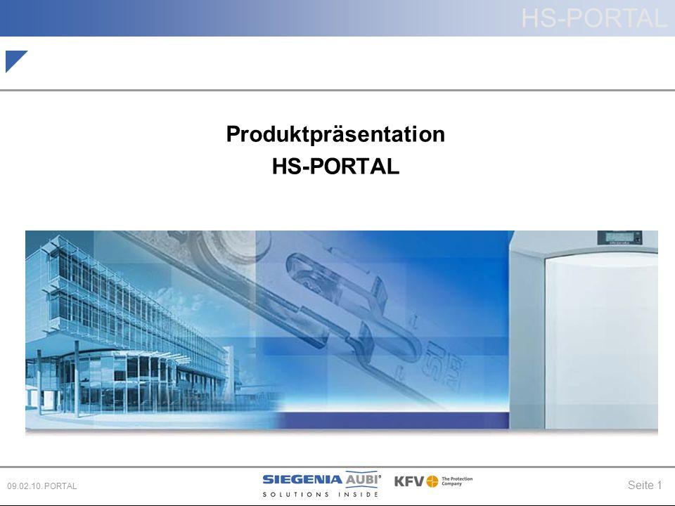 HS-PORTAL Seite 1 09.02.10. PORTAL Produktpräsentation HS-PORTAL