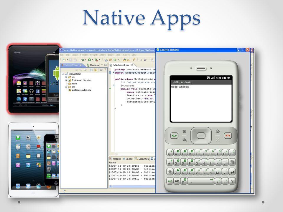 Was brauchen wir für die eigene App.